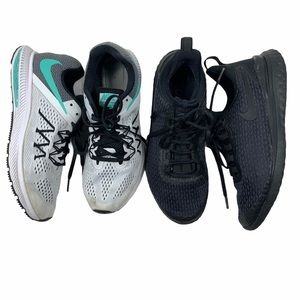 NIKE Sneakers. 2 Two Pairs, Size 9.